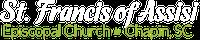 St Francis Logo white mobile